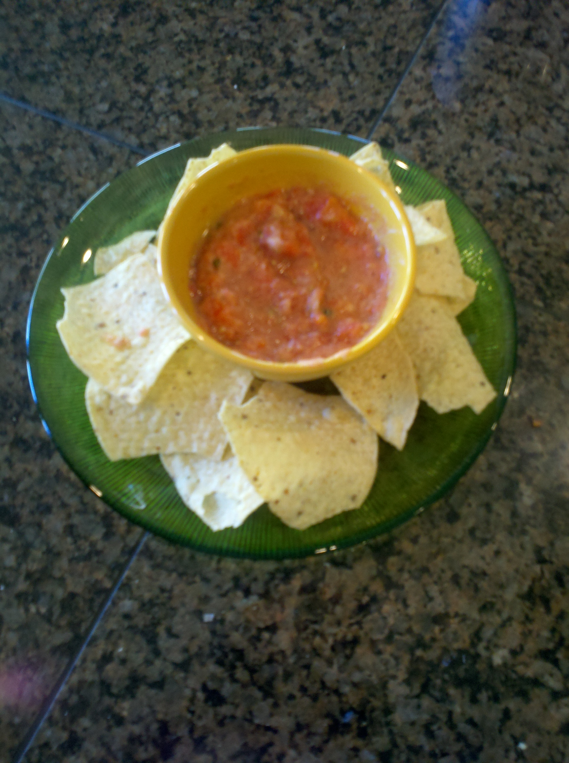 This managed mom gives the Magic Bullet and it's simple salsa recipe ...