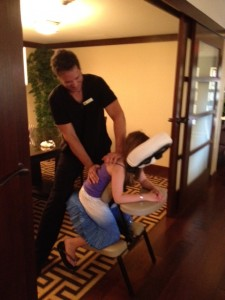 I take my teenager daughter to get beneficial massages with me as well.
