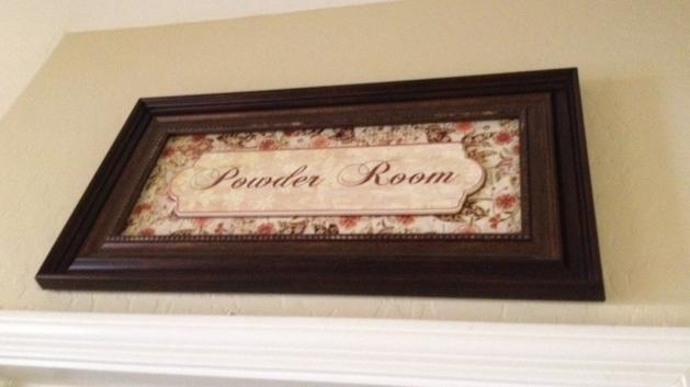 Our Powder Room Mini Makeover Managedmoms Com