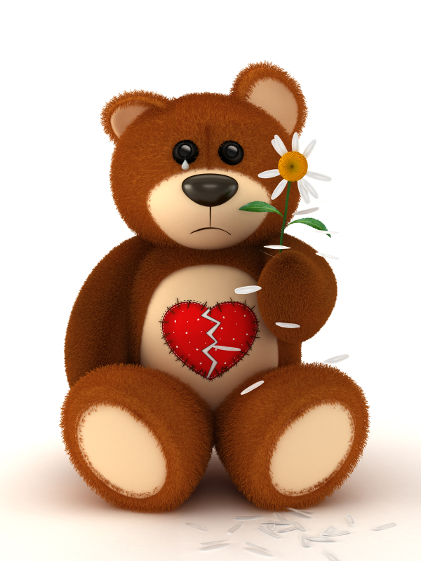broken heart teddy bear