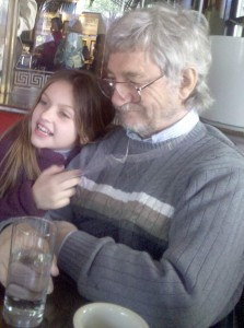 This Grandpa makes my girl laugh and she loves his British accent.  She can mimic him and he thinks it is great fun!