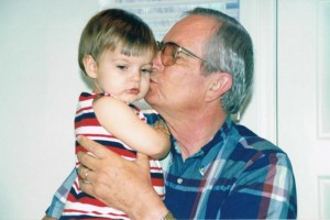 Pop Pop kisses and now this boy is almost as tall as his Pop Pop.  Time flies!