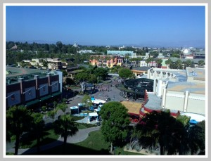 Our view from our room of Downtown Disney.