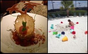 Scrumptious sweets and sand for poolside play were both fun amenities offered at the Four Seasons in Dallas.
