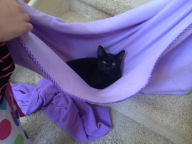Swing her in a hammock!