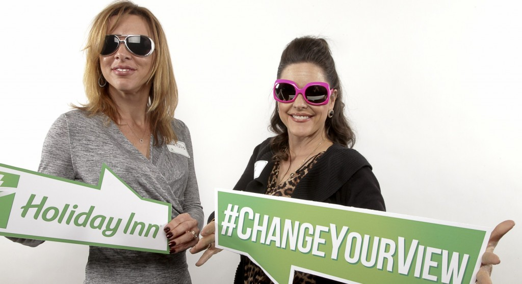 I took our managedmoms.com team writer, Julie with me and posing in a fun photo booth was part of the remodel celebration festivities!