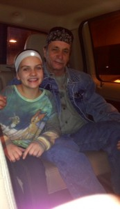 My girl with her Grandpa Dennis, my Dad :)
