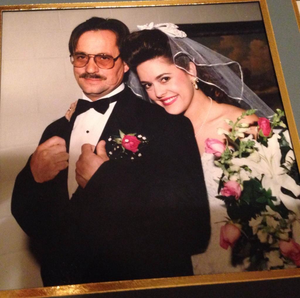 Dad and I at wedding