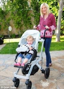 Torie Spelling stroller