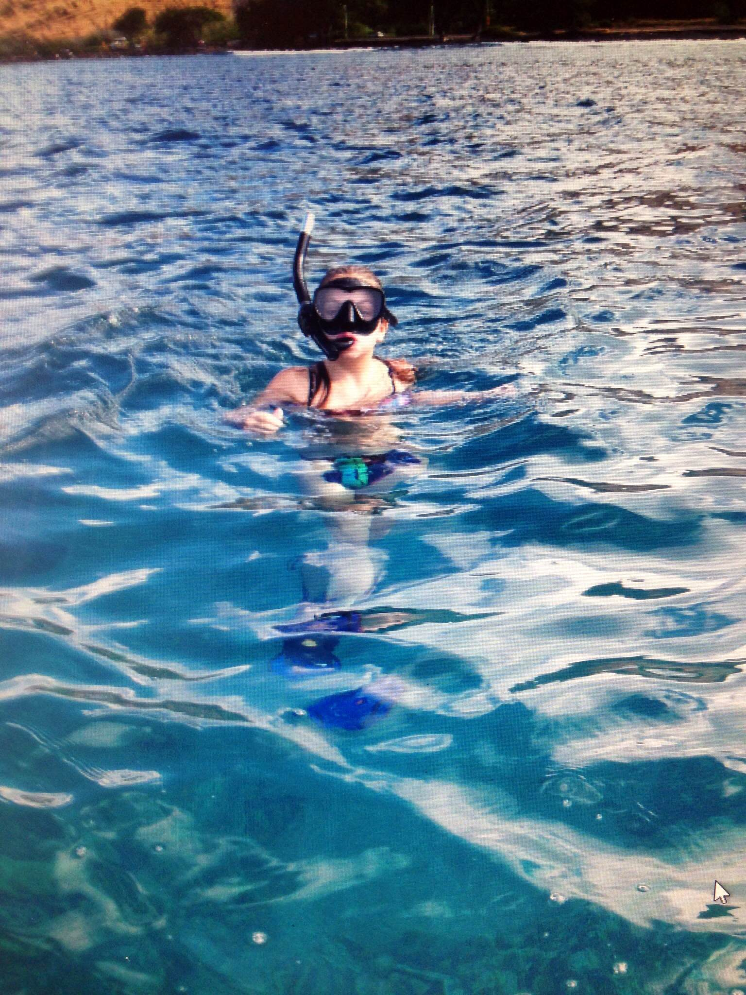 The girl loved snorkeling....