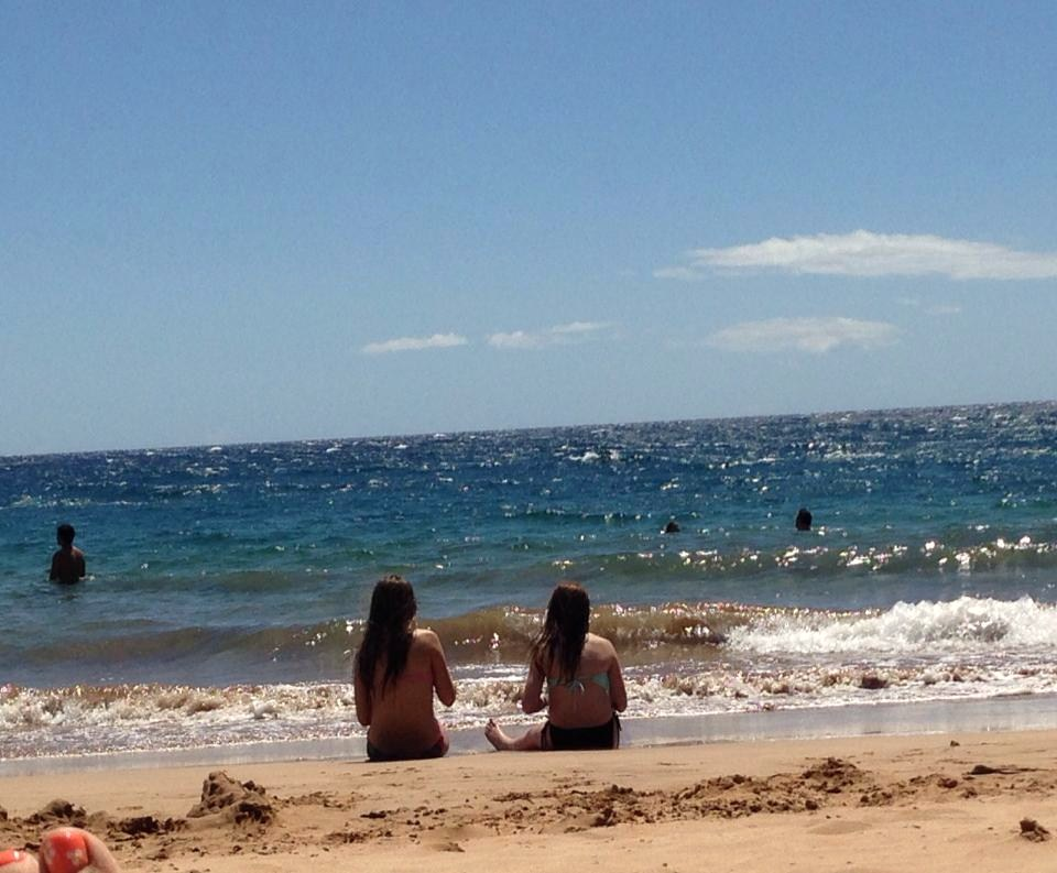 gals on beach in Wailea