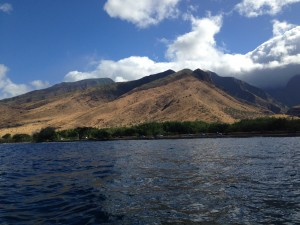 Our view from our kayaks in Maui.  So pretty.