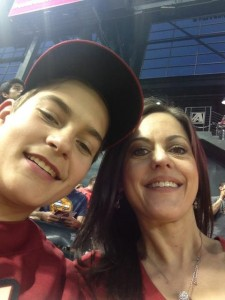 me and jack at dbacks game