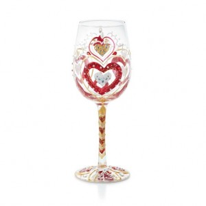 wine glass painted