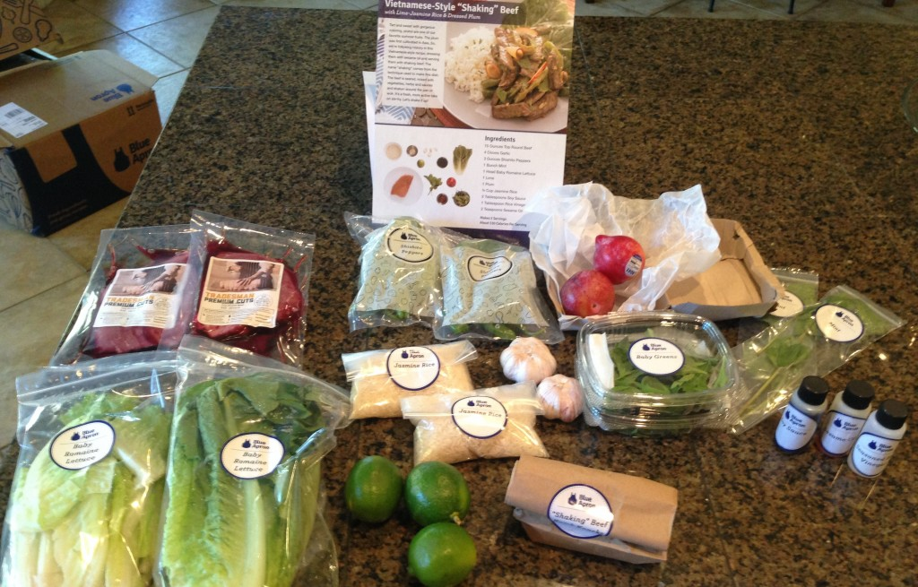 Here are the ingredients for one of the recipes doubled since I ordered times 2 to feed a larger group.
