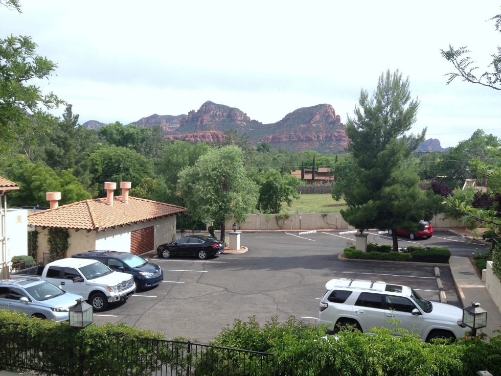 Sedona from our hotel room front door