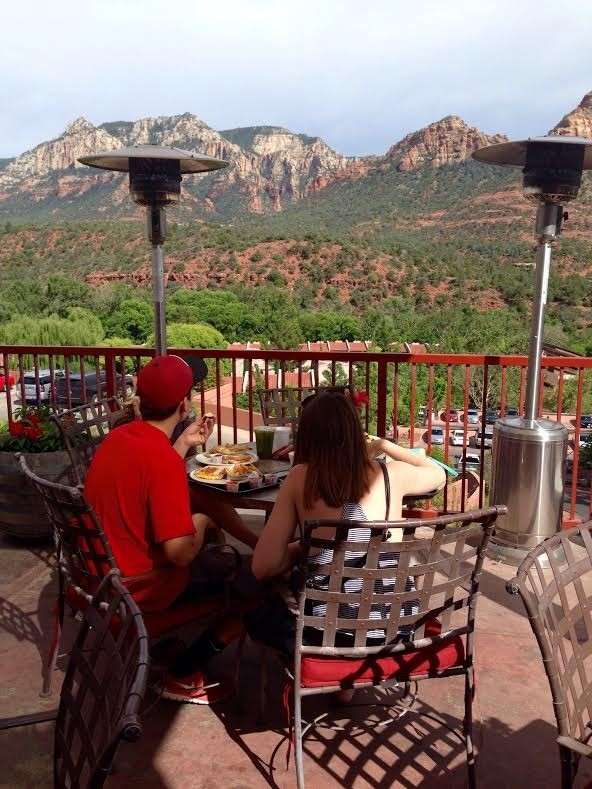 Sedona houses a food court in uptown that has a nice selection of food, cocktails and snacks.  We didn't find the food to be anything special, but it did tide us over the view from the court patio can't be missed.  Very nice indeed!