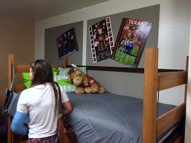 checking out dorm room