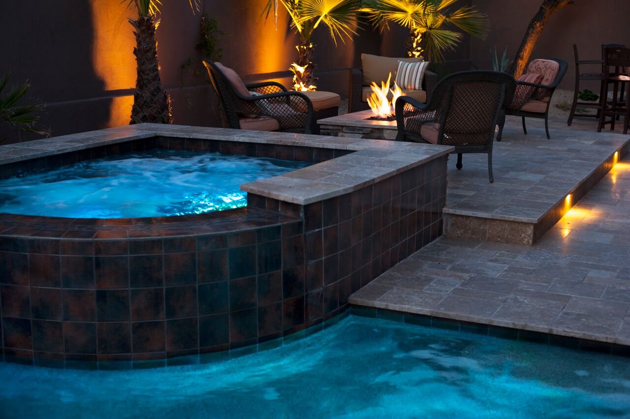 spa to firepit