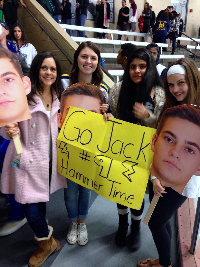 Jack's cheering section