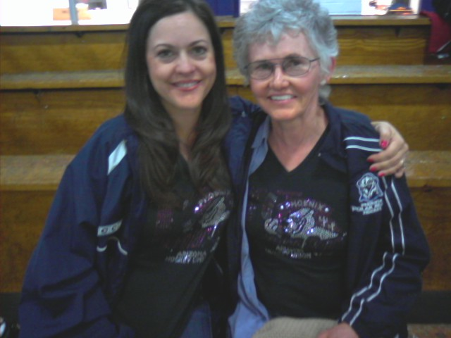me & mom at hockey tourney