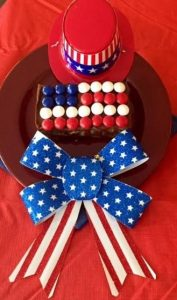 flag brownie