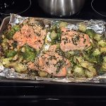 Tasty & Light Savory Salmon & Brussels Sprouts Recipe